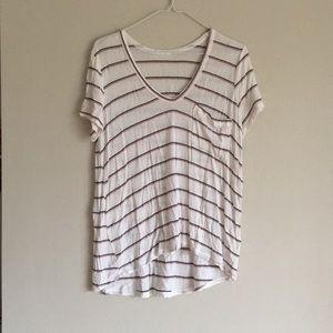 Short-sleeved white Lush top.